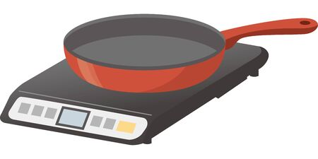 Image illustration of frying pan riding IH heater