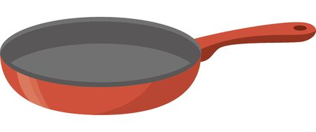 Image illustration of a frying pan with a red color