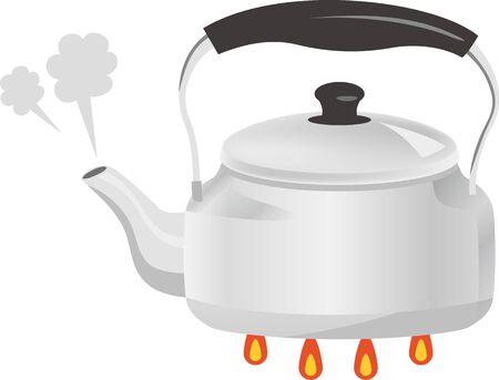Image illustration of a boiling kettle Ilustracja