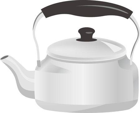 Silver kettle image illustration