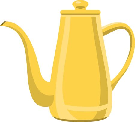 Image illustration of yellow and long kettle