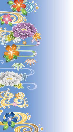 Floral background design Illustration