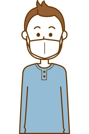 Image illustration of a man wearing a cold prevention mask