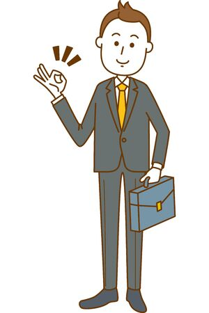 Image illustration of a man in a suit. Systemic