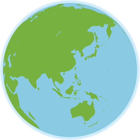 Image illustration of a world map (sphere)