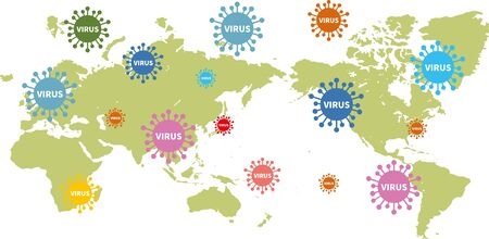 Image illustration of the world infected with the new coronavirus