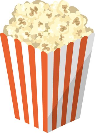 Image illustration of popcorn in a paper container
