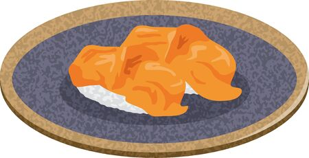 Sushi. Image illustration of red shellfish (2)