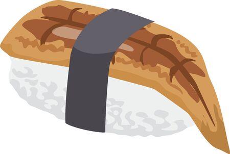 Sushi. Image illustration of anago
