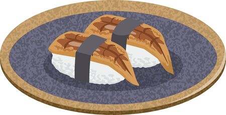 Sushi. Image illustration of anago (eel) (2)