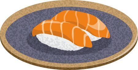 Sushi. Salmon Image Illustrations (2)
