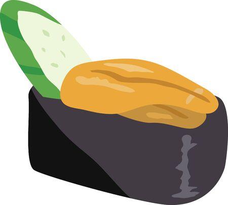 Sushi. Image illustration of sea urchin