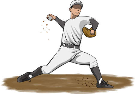 Image illustration of a pitcher (baseball player)