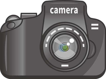 Image illustration of a digital camera (front)