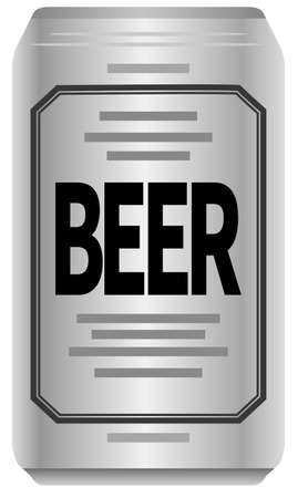 Image illustration of canned beer (front)
