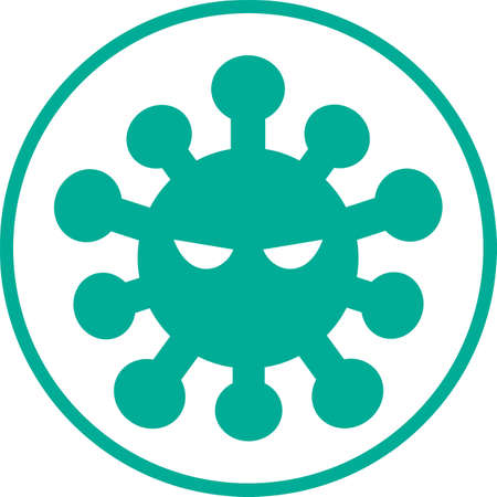 Virus image illustration icon