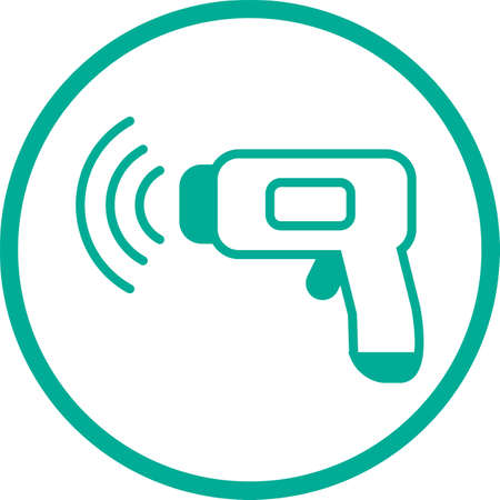 Non-contact thermometer image illustration icon