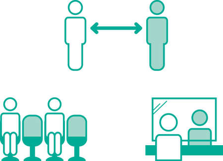 Social Distance Image Illustration Icon
