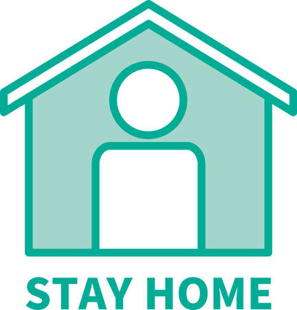 Stay Home Image Illustration Icon