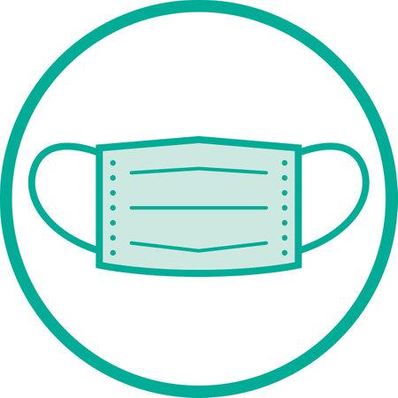 Mask image illustration icon