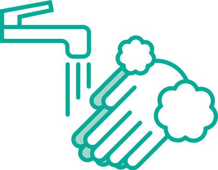 Hand wash image illustration icon  イラスト・ベクター素材