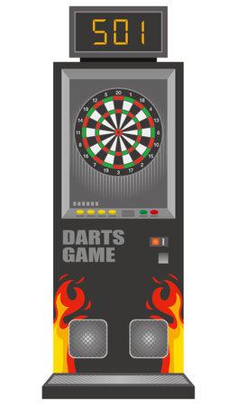 Image illustration of dart machine