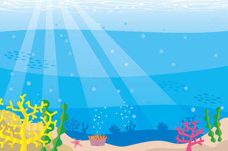 Image illustration of the crystal clear under the sea with light