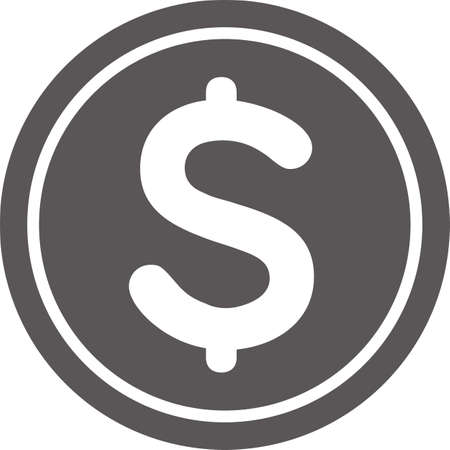 Simple dollar (coin) icon (black)