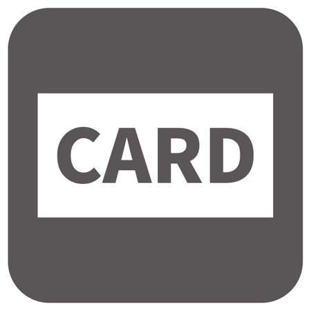 Simple icon of card (credit card) (black)