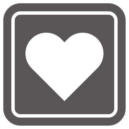 Simple heart-shaped icon (black)