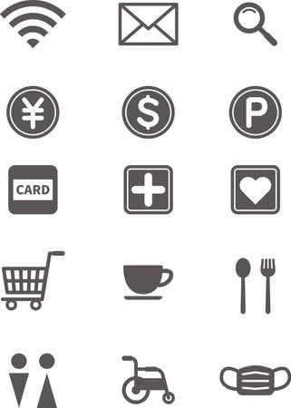 Simple icon. Lifestyle Mark Set (Black)  イラスト・ベクター素材