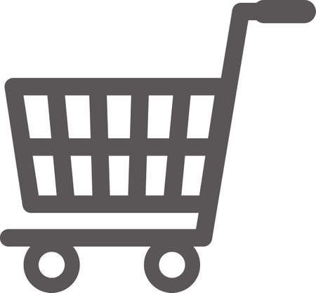 Simple icon of shopping area (black)
