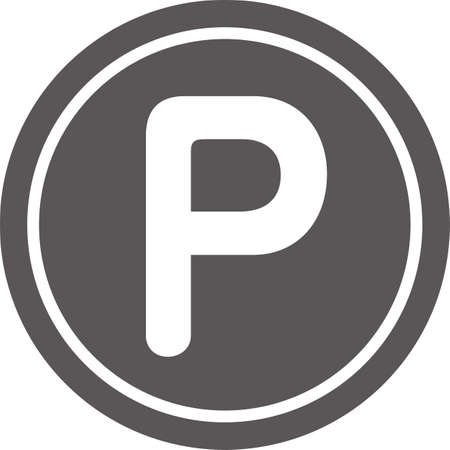 Simple icon of point (coin) (black)