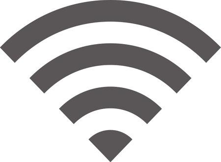 Simple icon of Wi-Fi mark (black)  イラスト・ベクター素材
