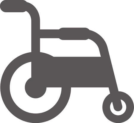 Simple wheelchair icon (black)