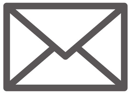 Simple icon (black) for mail (envelope)