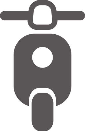 Simple icon of motorcycle (scooter) (black)