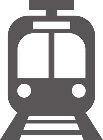 Simple icon of train (black) (front)