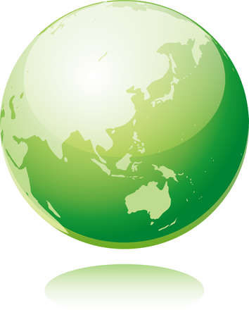Image illustration of a reflected green earth