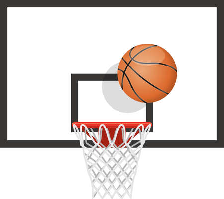 Basketball and goal image illustration (front)