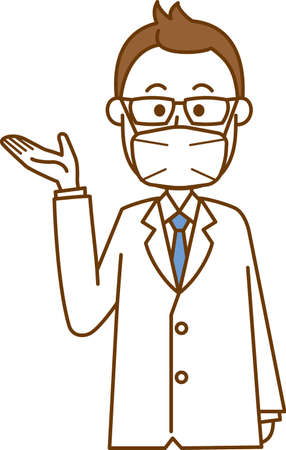 Image illustration of a doctor wearing a mask (guide)