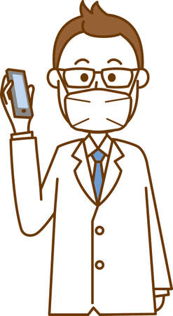 Image illustration of doctor wearing mask (smartphone)