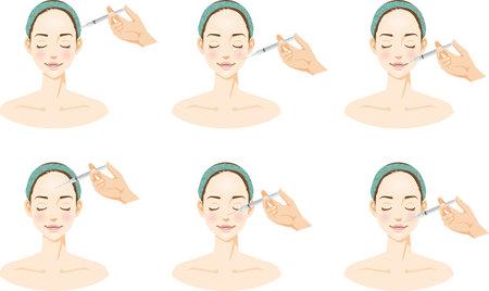 Beauty Injection Image Illustration Set