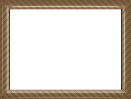 Image illustration of a frame (picture frame) for certificates