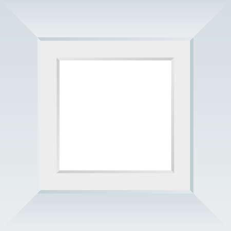 Stylish Frame Image Illustration (Square) (White)