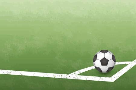 Corner kick image illustration (soccer ball) (vector)