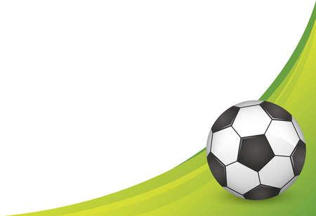 Soccer ball image illustration design. Vector image