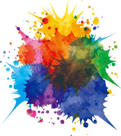 Colorful paint vector splashing around  イラスト・ベクター素材