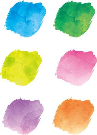 Watercolor Style Maru no Icon (Color Variation) 写真素材