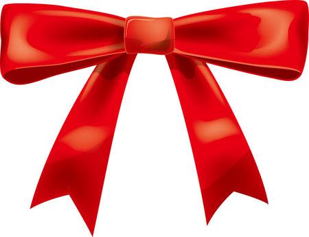 Red Ribbon Image Illustration (Ornaments)  イラスト・ベクター素材
